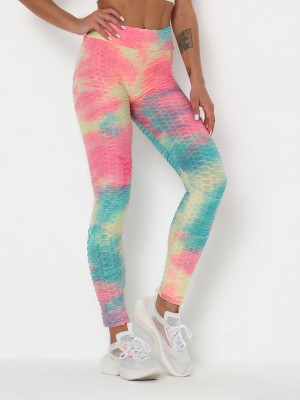 Classy Ruched Legging Ankle-Length Jacquard Running Clothes