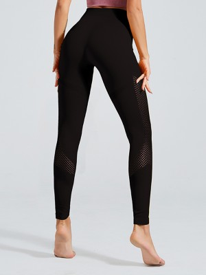 Funny Black High Rise Yoga Leggings Ankle Length Ladies Activewear