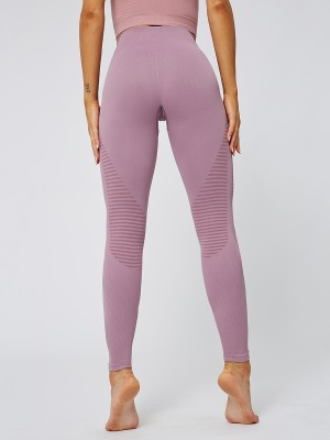 Dazzles Pink Yoga Leggings Ankle Length High Rise Quick Drying