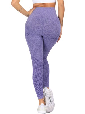 Holiday Purple Yoga Leggings Semaless High Rise Athletic Apparel