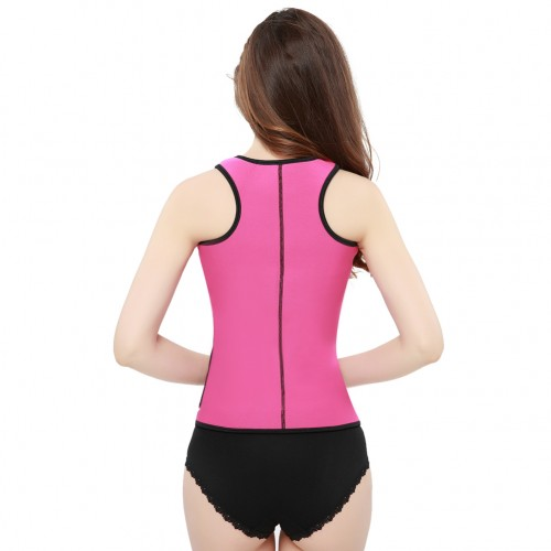 Pink High Compression Neoprene Vest Shaper with Belt