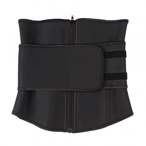 Adjustable Waist Belt Slimming Zipper Latex Waist Cincher