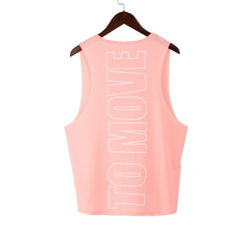 Lovely Pink Grenadine Patchwork Sports Vest Sleeveless