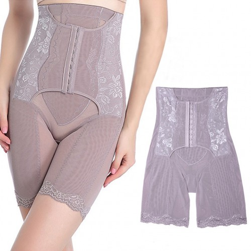 Postpartum Big Grey High Rise Shapewear Hook Eye Closure Compression