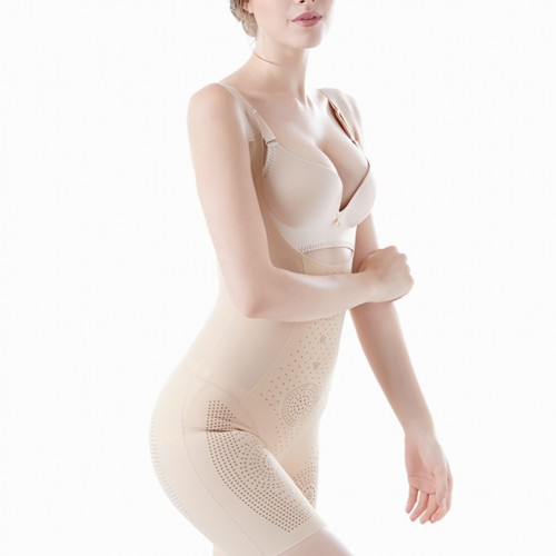 Breathable Big Nude Full Anion Dots Shapewear Waist Control