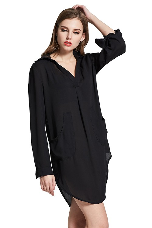 Black Casual Mini Length Dress