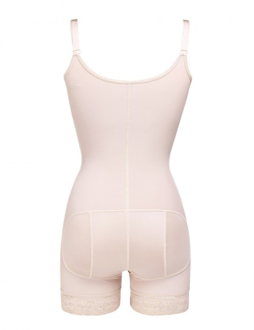 Nude Full Body Shaper Adjustable Straps Queen Size Fat Burning