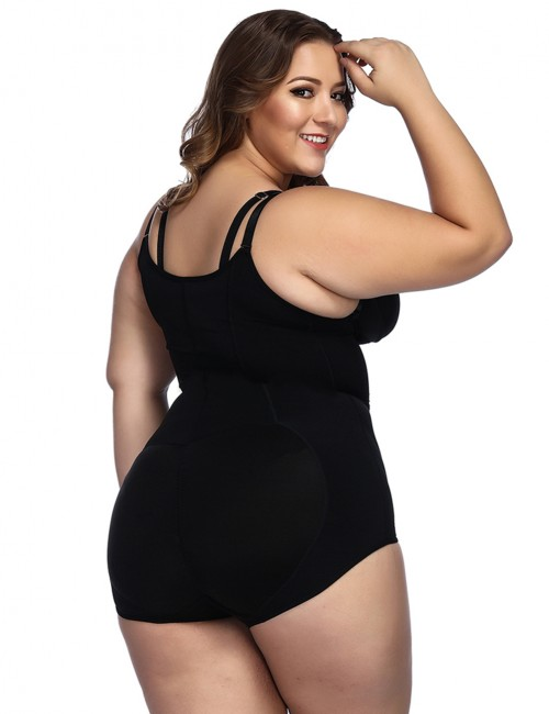 Black Butt Lifting Body Shapewear Cami Straps Breathable