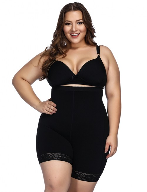 Black Anti-Curl Material Shapewear Butt Enhancer Posture Corrector