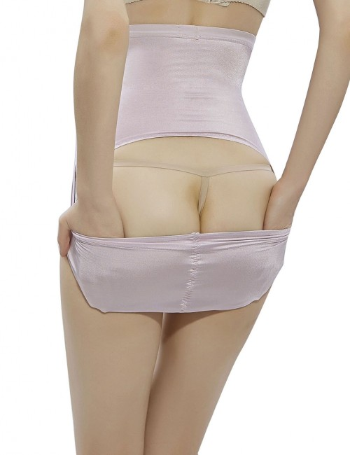 Light Pink High Waist Open Lifting Panty Shaper Cross