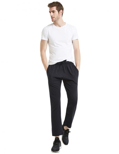 Mystic Black Straight-Leg Pants Jogging Two Side Pocket Outdoor