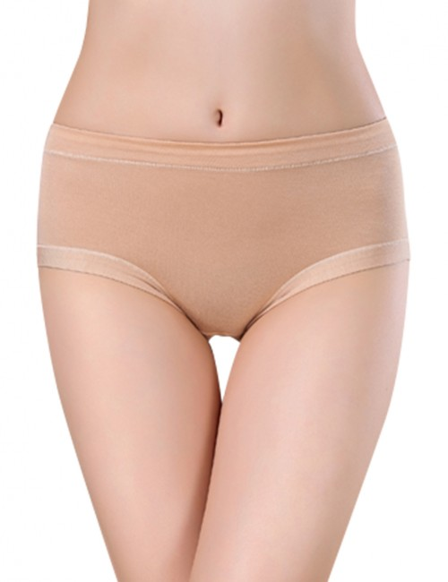 Nude Female Bamboo Antibacterial Triangle Briefs Nice Quality