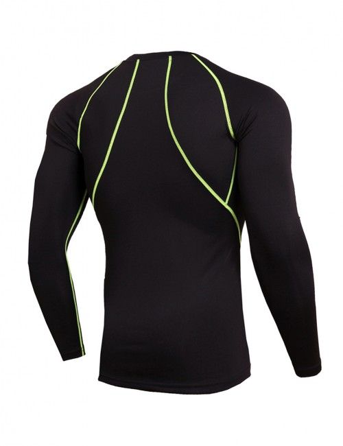 Elastic Plus Size Tight Running Shirt Crew Neck