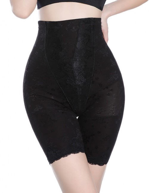 Flatten Tummy Black Queen Size High-Waisted Underpants 4 Plastic Bones Fat Burner