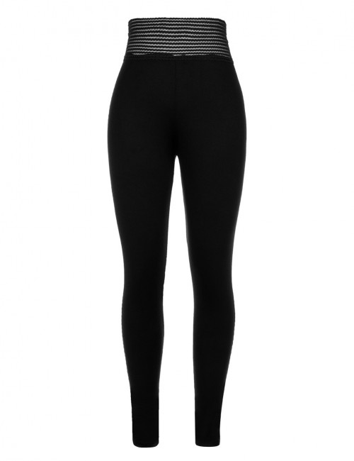 Cheeky Black Mid Waisted Sports Leggings Push Up Female Grace