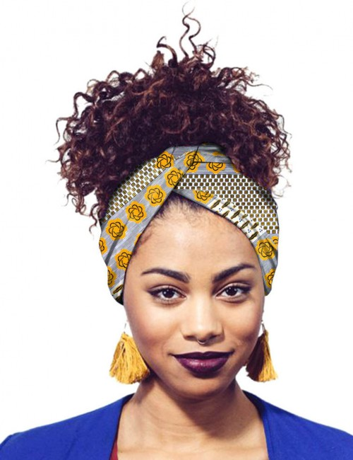 Brilliant Twisted Hair Hoop African Pattern Lightweight