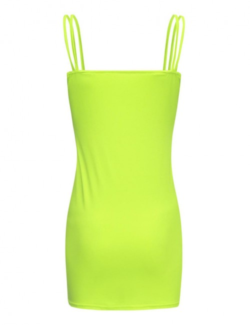 Absorbing Green Ruched Sling Bodycon Dress Open Back