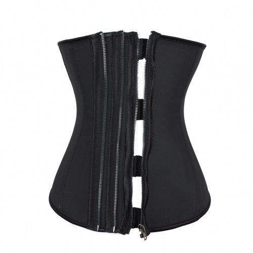 Triple Zip and Clip Waist Trainer Girdle Slimming Corset
