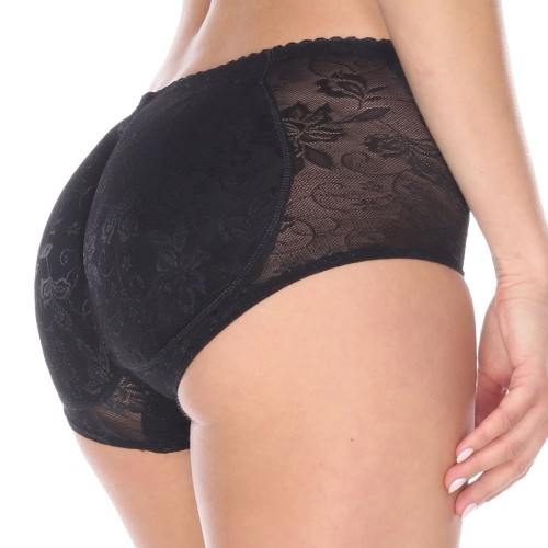Black Women Briefs Buttock Underwear Padded Butt Hip Shapewear