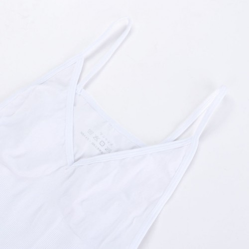 Tummy Control Weight Loss White Shapewear Vest