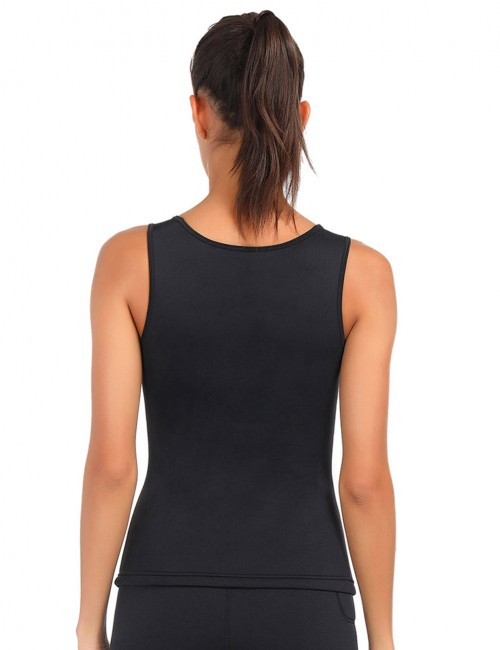 Supportive Black U Neck Neoprene Large Size Tank Shaper Plain