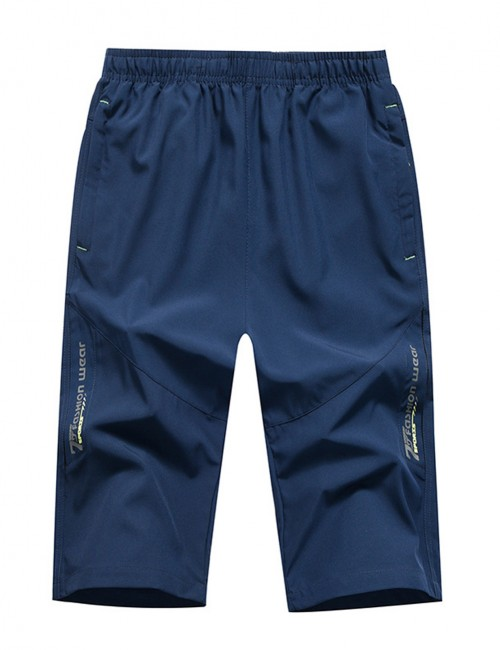 Miracle Waterproof Dark Blue Male Pocket Big Size Pants Sport