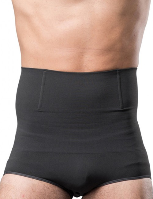 Body-Hugging Grey Bamboo Charcoal Pure Color Male Butt Enhancer Weight Loss