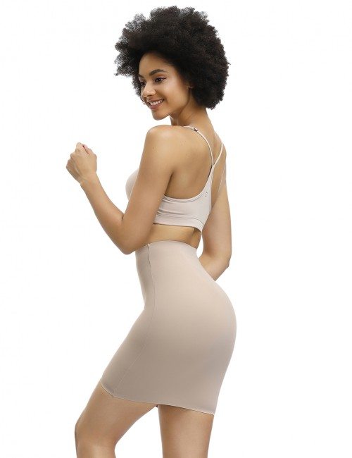 Unbelievable Skin Seamless Plain High Rise Butt Lifter Skirt Body Shaper