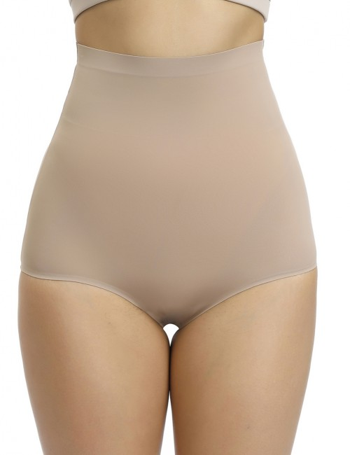 Breathable Skin High Rise Butt Enhancer Panty Solid Color Body Shapewear