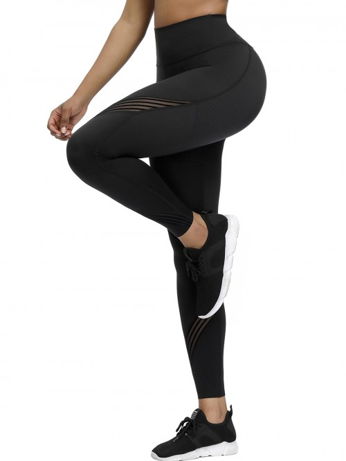 Black 3D Print High Waist Yoga Legging Workout Apparel