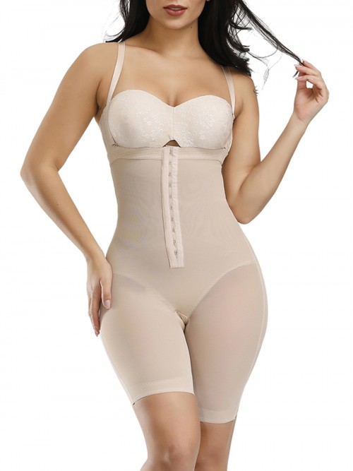 Moderate Control Skin Color Hook Detachable Straps Full Body Shaper