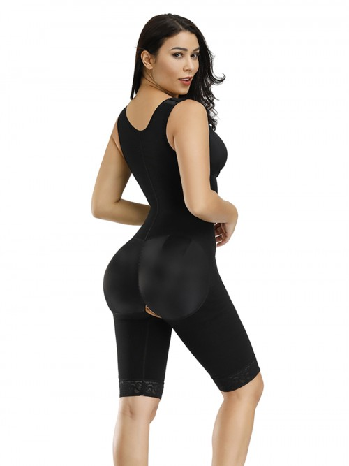 Most Comfortable Black Front Zipper Queen Size Breastfeeding Bodysuit Weight Loss
