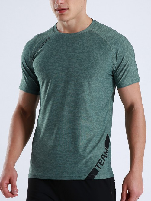 Cool Green Crew Neck Running Top Moisture Wicking Wholesale