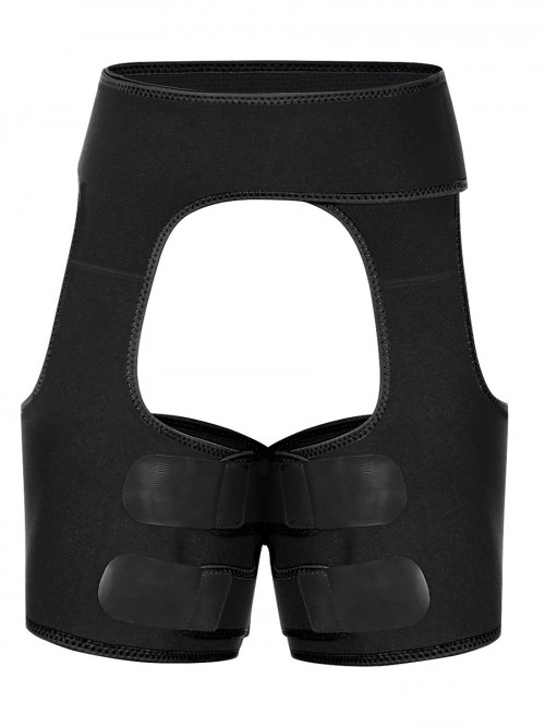 Black Neoprene Tummy And Thigh Shaper Butt Lifting Slimming Waist