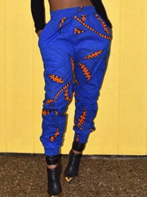 Paradise Ethnic Print High Rise Long Pants Womens Apparel