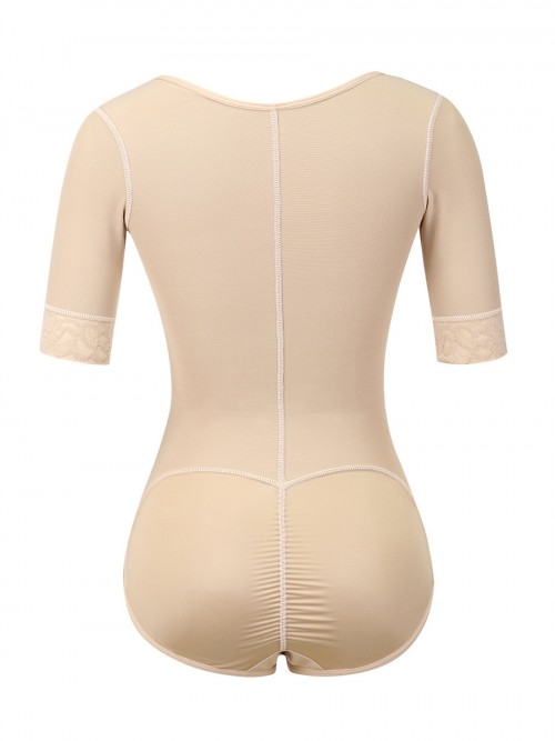 Body Sculpting Skin Color Full Body Shaper Solid Color Plus Size Good Elastic
