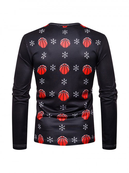 Men Xmas Shirt Crew Neck Full Sleeves Online Shopping