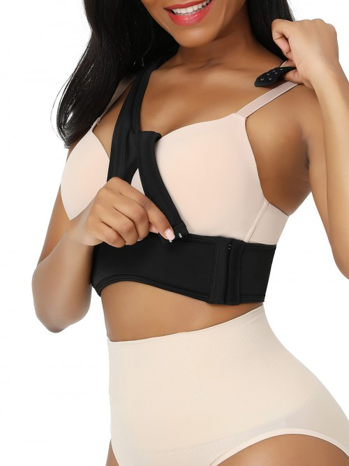 Black Anti-Wrinkle Bra X-Shaped Sponge Well-Suited