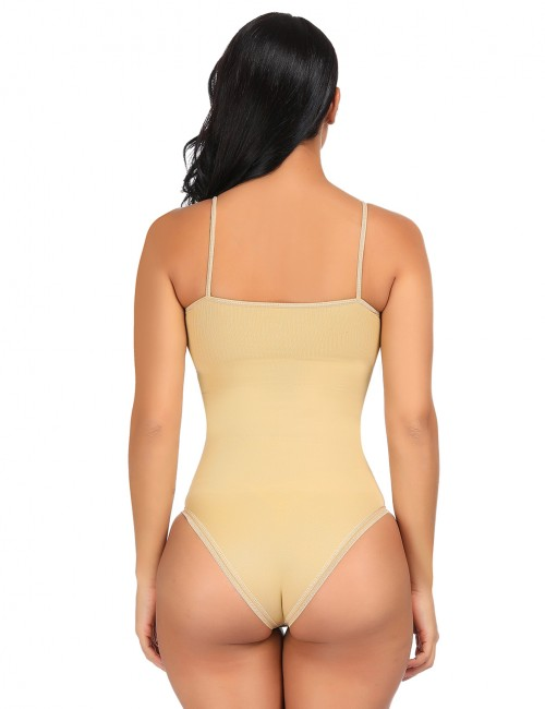 Soft Shaping Nude Thin Straps Bodysuit Seamless