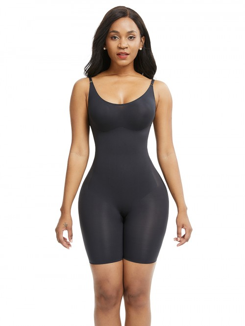 Black Adjustable Straps Big Size Body Shaper Best Tummy