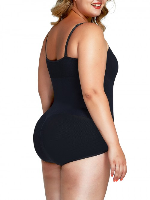Slimmed Black Shaper Bodysuit Tummy Control Plus Size Ladies