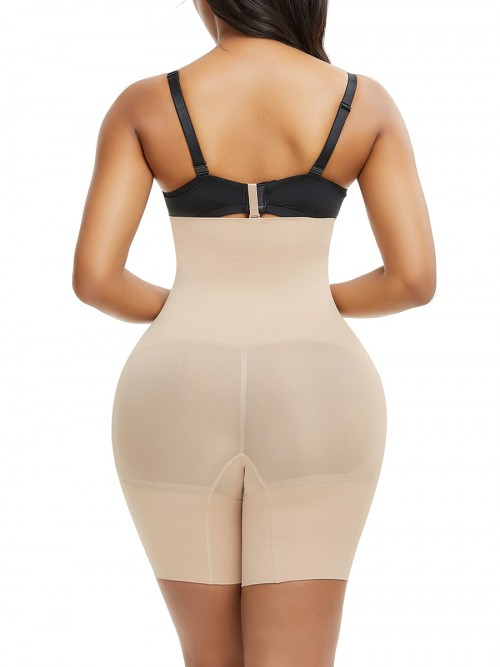 Seamless Shaper Skin Color Buckle Mid-Thigh Flatten Tummy