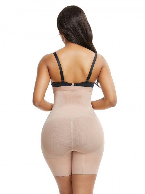 Curvy Skin Color Seamless Plus Size Buckle Shaper Panty Body Sculpting