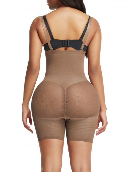 Light Brown Adjustable Straps Butt Lifter Seamless Secret Slimming