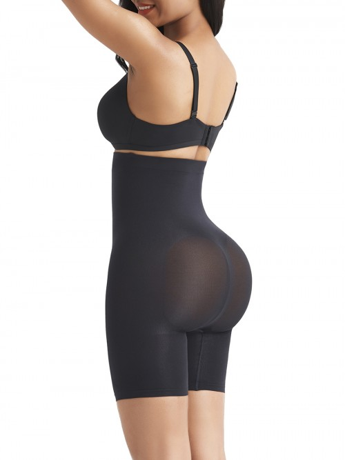 Black Tummy Control Seamless Butt Enhancer Delightful Garment