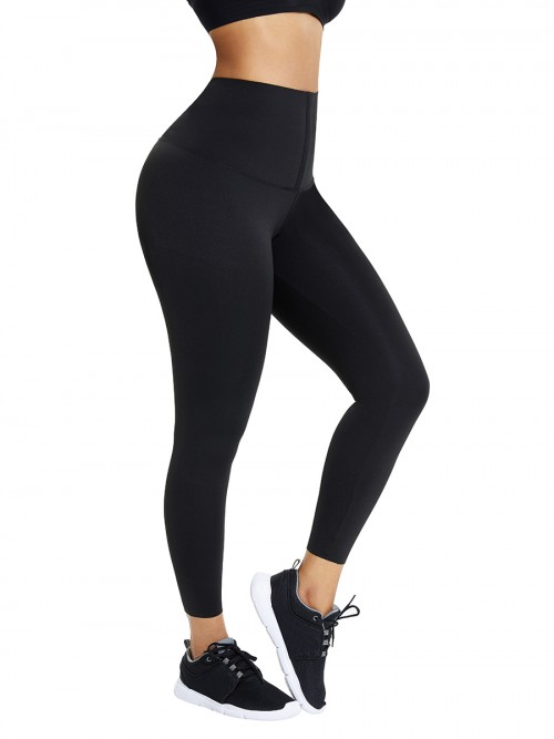 Black High Waist Pant Shaper Full Length Intant Shaping