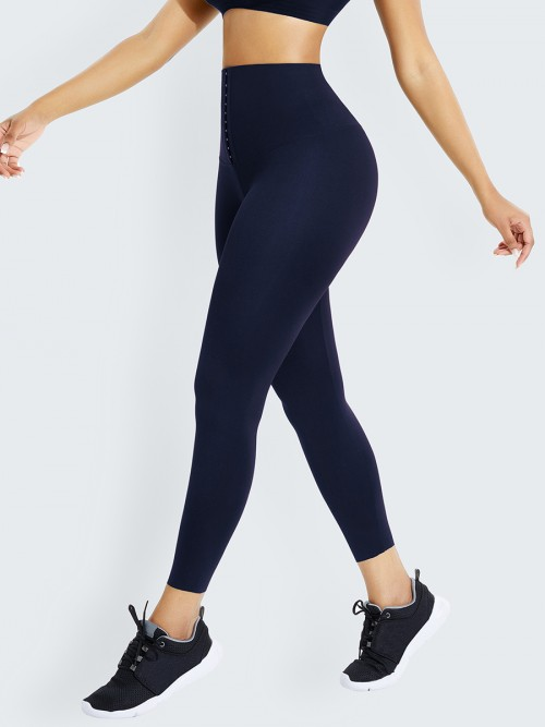 Tibetan Green Front Hook High Waist Shapewear Leggings High Power