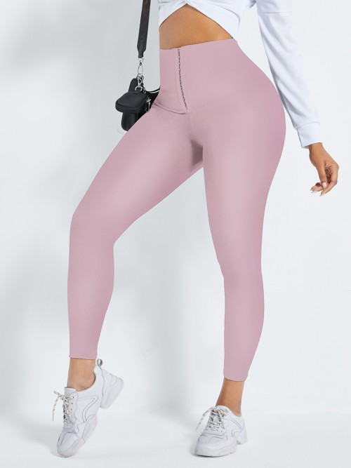 Light Pink 2-In-1 Shapewear Leggings High Waist Hidden Curves
