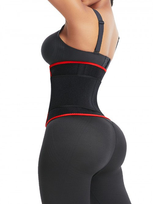 Waist Trainer Sticker Red Neoprene 6 Steel Bones Slimming Stomach