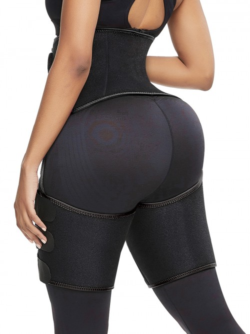 Enhancer Black Neoprene Thigh Trainer Butt Lifting Secret Slimming
